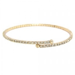 JEST JEWELS Thin Pave Rhinestone Yellow Gold Bracelet