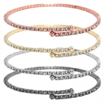 JEST JEWELS Thin Pave Crystal Bracelets