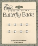 Sterling Silver Butterfly Backs