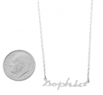 Small 14K White Gold Nameplate Necklace