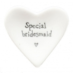 Special Bridesmaid Porcelain Heart Jewelry Tray