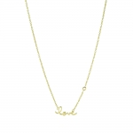 SHY by Sydney Evan Love Necklace-Gold