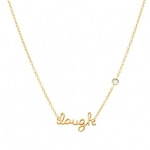 SHY by Sydney Evan 'Laugh' Necklace-Gold