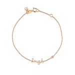 Shy by Sydney Evan Laugh Bracelet - Rose Gold