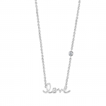 SHY by Sydney Evan Love Necklace-Silver