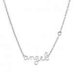 SHY by Sydney Evan 'Angel' Necklace - Silver