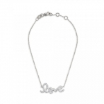 SYDNEY EVAN 14K White Gold 'Love' Bracelet