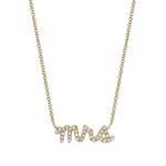 SYDNEY EVAN 14K Yellow Gold and Diamond 'Mrs' Necklace