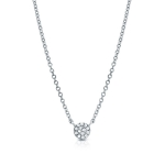 JEST JEWELS 14k White Gold Diamond Disc Necklace