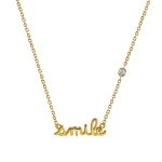 Shy by Sydney Evan Smile Necklace - Gold