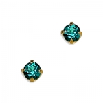 14k Yellow Gold December Birthstone Crystal Piercing Earring