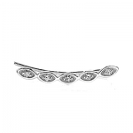 SYDNEY EVAN 14k White Gold & Diamond Evil Eye Ear Wire