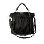 MZ WALLACE Charli Black Bedford Moto Bag