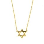 JEST JEWELS 14K Gold Vermeil Star of David Necklace