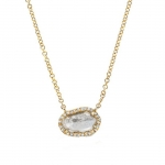 JEST JEWELS 14k Gold Diamond Slice Necklace