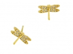 TAI Crystal Dragonfly Stud Earrings