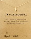 DOGEARED 14K Gold Dipped 'I Heart California Wish' Necklace