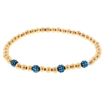 JEST JEWELS 14k Gold Vermeil Turquoise Ball Bracelet