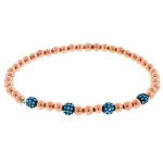 JEST JEWELS 14k Rose Gold Vermeil Turquoise Ball Bracelet