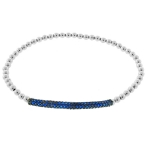 JEST JEWELS Sterling Silver Blue CZ Bar Bracelet