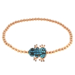 JEST JEWELS 14k Rose Gold Vermeil Frog Bracelet