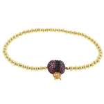 JEST JEWELS 14k Gold Vermeil Lady Bug Bracelet