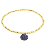 JEST JEWELS 14k Gold Vermeil Purple Disk Bracelet