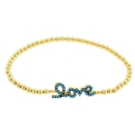 JEST JEWELS 14k Gold Vermeil Love Bracelet