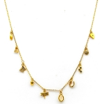 TAI Gold Dragonfly Heart Charm Necklace