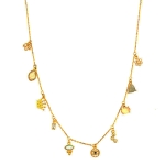 Tai Gold Evil Eye Crown Charm Necklace
