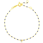 Tai 14k Gold Vermeil Navy Rosary Anklet