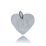 JEST JEWELS Sterling Silver Engraved Heart Charm