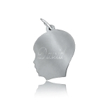 JEST JEWELS Sterling Silver Engraved Boy Silhouette Charm
