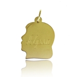 JEST JEWELS 14k Vermeil Engraved Boy Silohuette Charm