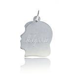 JEST JEWELS Sterling Silver Engraved Girl Silohuette charm