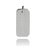 JEST JEWELS Sterling Silver Engraved Rectangle Charm