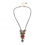 BETSEY JOHNSON Surreal Forest Owl Pendant Necklace