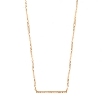 JEST JEWELS 14k Rose Gold Diamond Bar Necklace