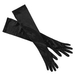JEST JEWELS Long Black Gloves