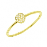 JEST JEWELS 14K Yellow Gold Diamond Disc Ring