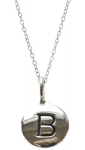 JEST JEWELS Sterling Silver Initial Necklace