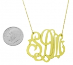 Large 14K Gold Filled Monogram Pendant