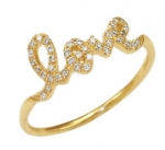 SYDNEY EVAN 14K Gold & Diamond Love Ring