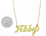 14K Yellow Gold Nameplate Necklace