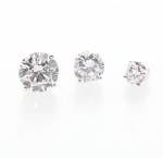 JEST JEWELS Sterling Silver Cubic Zirconia Stud Earrings
