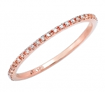 rose gold eternity diamond