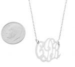 Small Sterling Silver Monogram Pendant
