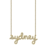 SYDNEY EVAN Gold Custom Diamond Name Necklace