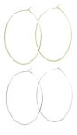 JEST JEWELS Ultra Thin Oval Hoops
