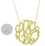 XLarge 14K Yellow Gold Monogram Pendant